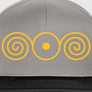 LIGHT IN THE HEART, vector, sun sign with spirales, healing symbol, heart opener, Sweatshirts - Snapback Cap