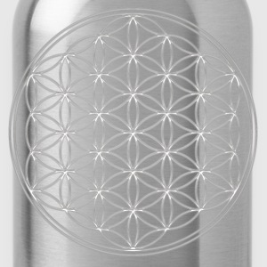 FEEL THE ENERGY!, Flower of Life, Silver, Sacred Geometry, Protection Symbol, Harmony, Balance T-Shirts - Trinkflasche