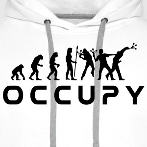 evolution_occupy T-skjorter - Premium hettegenser for menn