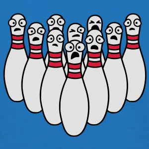 afraid_bowling_pins Bags  - Men's T-Shirt