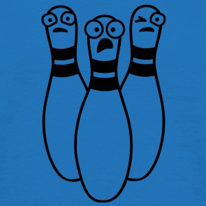 bowling_pins_in_fear Tassen - Mannen T-shirt