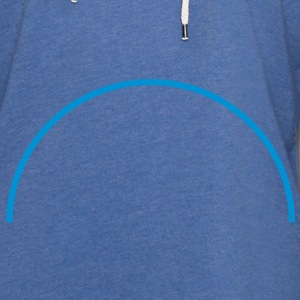half_circle_line Accessories - Let sweatshirt med hætte, unisex