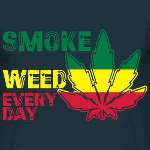 smoke weed every day Tröjor - T-shirt herr
