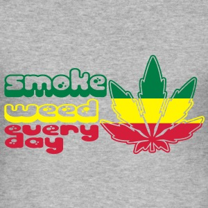 smoke weed every day Tröjor - Slim Fit T-shirt herr