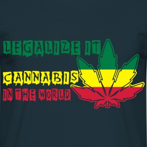 legalize it cannabis in the world Felpe - Maglietta da uomo