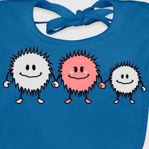 hairy_monster_family Tee shirts Enfants - Bavoir bio Bébé