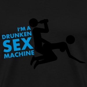 drunken_sex_machine Tröjor - Premium-T-shirt herr