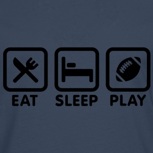 Eat Sleep Play Rugby/American football Sweaters - Mannen Premium shirt met lange mouwen