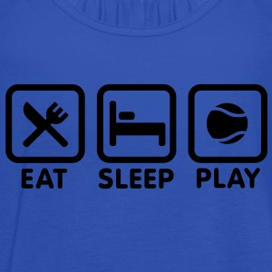 Eat Sleep Play tennis Kinder shirts - Vrouwen tank top van Bella