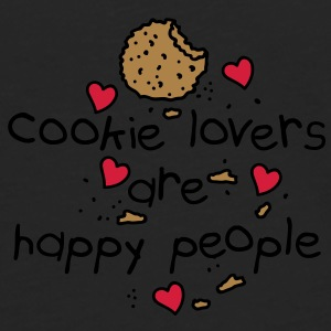 cookies lovers are happy people Sacs - T-shirt manches longues Premium Homme