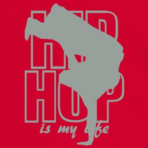 hip hop is my life Tasker - Herre kontrast-T-shirt