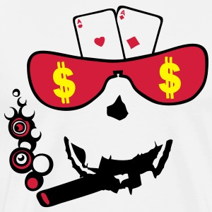 carte poker as paire smiley3 bluff3 Sweat-shirts - T-shirt Premium Homme