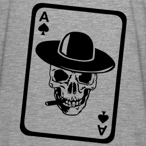 poker tete mort as skull dead card carte Vestes - T-shirt manches longues Premium Homme