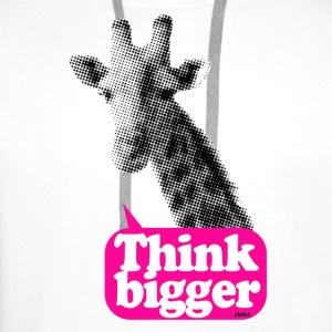 Think bigger - Girafe Badges - Sweat-shirt à capuche Premium pour hommes