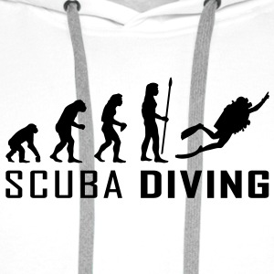 evolution_scuba_diving T-skjorter - Premium hettegenser for menn