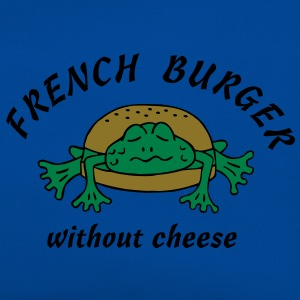 Froschburger French Burger Fastfood Frog ohne Käse without cheese Frankreich France T-shirts - Retro-tas