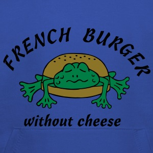 Froschburger French Burger Fastfood Frog ohne Käse without cheese Frankreich France T-shirts - Kinderen trui Premium met capuchon