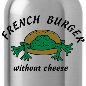 Froschburger French Burger Fastfood Frog ohne Käse without cheese Frankreich France T-shirts - Drinkfles