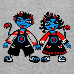 Djævelske duo, digitale, illustration, tegneserie Sweatshirts - Herre Slim Fit T-Shirt