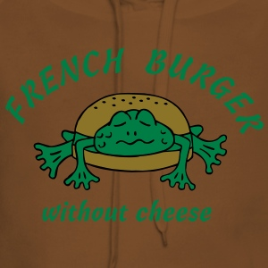 Froschburger French Burger Fastfood Frog ohne Käse without cheese Frankreich France Koszulki - Bluza damska Premium z kapturem