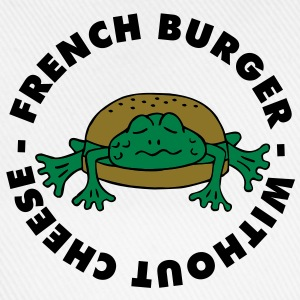 Froschburger French Burger Fastfood Frog ohne Käse without cheese Frankreich France Tee shirts - Casquette classique