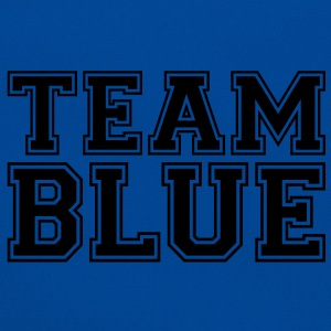 TEAM BLUE - blauwe team. T-shirts - Retro-tas