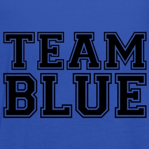 TEAM BLUE - blauwe team. T-shirts - Vrouwen tank top van Bella