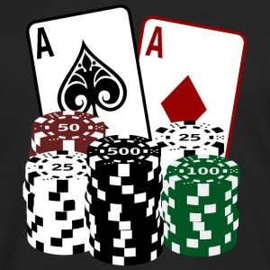 Poker Cards and Chips T-Shirts - Männer Premium Langarmshirt