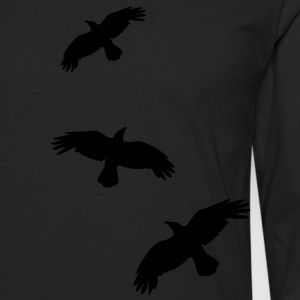 raben krähen mystisch vogel fliegen raven mystical crows flying bird Sweaters - Mannen Premium shirt met lange mouwen