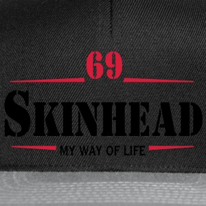 2 colors - Skinhead My Way of Life Skinheads Bootboys Rudeboys Skins Oi! T-shirts - Snapbackkeps