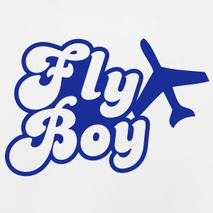 fly boy with a jet Kids' Tops - Baby T-Shirt