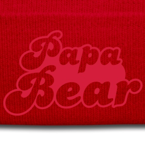 PAPA bear cute family group   T-Shirts - Winter Hat