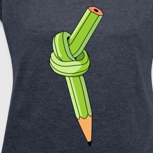 pencil nodes - Women's T-shirt with rolled up sleeves