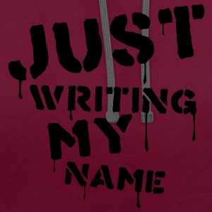 just_writing_my_name Bags  - Contrast Colour Hoodie