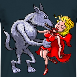 Wolf Kissing Red Riding Hood Hoodies & Sweatshirts - Men's T-Shirt