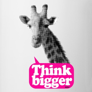Think bigger - Giraffa Bottoni/Spille - Tazza