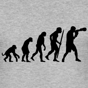 Evolution of boxing  Pullover - Männer Slim Fit T-Shirt