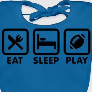Eat Sleep Play American Football / Rugby Kinder T-Shirts - Baby Bio-Lätzchen