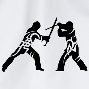 Sword fight tribal Mugs  - Drawstring Bag