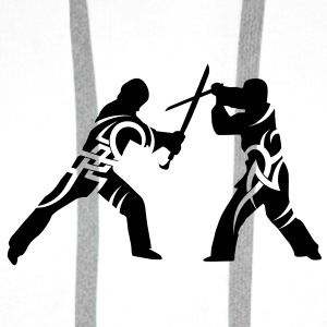 Sword fight tribal Mugs  - Men's Premium Hoodie