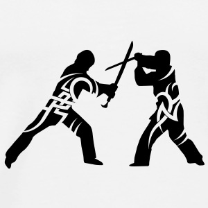 Sword fight tribal Mugs  - Men's Premium T-Shirt