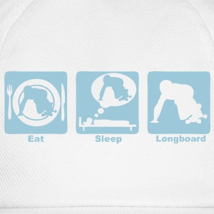 longboard eat sleep play Tee shirts manches longues - Casquette classique