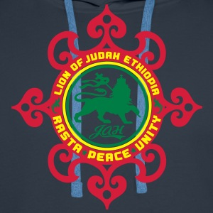lion of judah ethiopia rasta peace unity T-Shirts - Men's Premium Hoodie