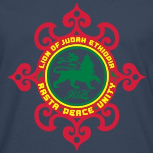 lion of judah ethiopia rasta peace unity T-Shirts - Men's Premium Longsleeve Shirt