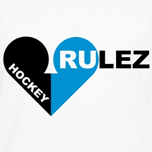 Hockey rulez 2-colours T-shirts - Mannen Premium shirt met lange mouwen