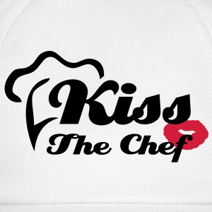 Kiss The Chef - Kochschürze Cooking Apron - Basebollkeps