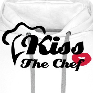 Kiss The Chef - Kochschürze Cooking Apron - Men's Premium Hoodie