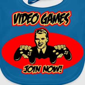 Video Games - join now! Kinder T-Shirts - Baby Bio-Lätzchen