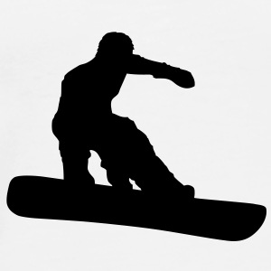 Snowboarder (Vector) - Men's Premium T-Shirt