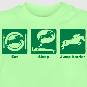 jump barrier saut obstacle eat sleep play Sweats Enfants - T-shirt Bébé